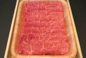 肉のみやびA5ランク仙台牛 モモ【すき焼き・しゃぶしゃぶ用】 500g
