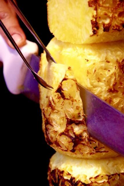 シュラスコでよく見る焼きパイナップル